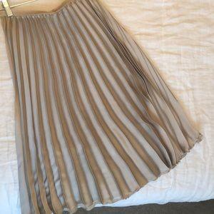 Zara Gold Pleated Skirt